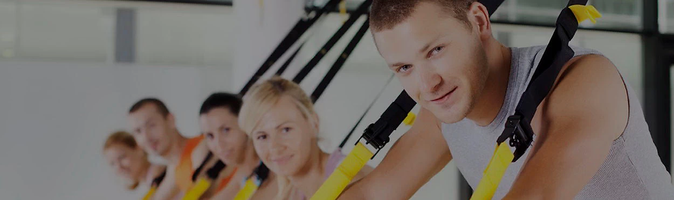 Train with TRX kit & supportive fitness