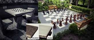 Outdoor Concrete Chess Board