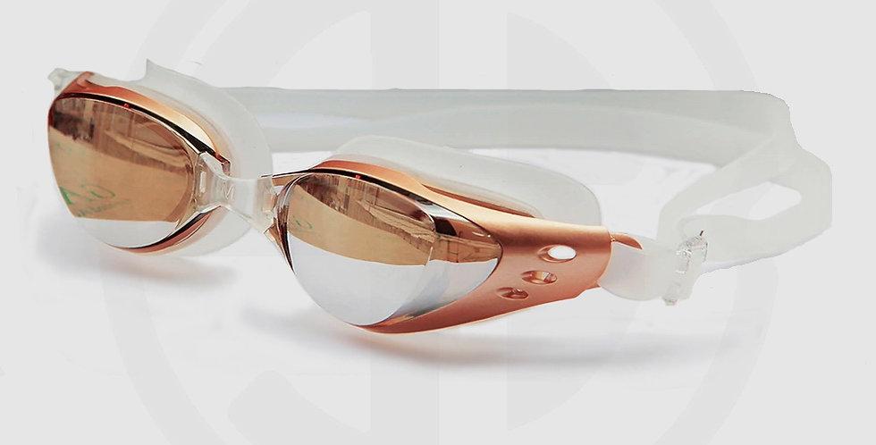 Queshark Swimming Goggles, Golden Frame