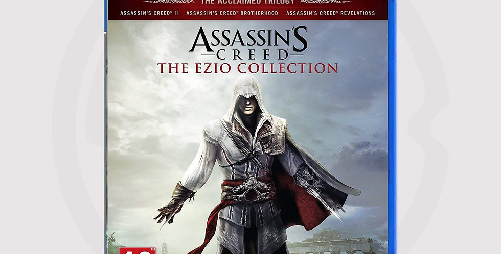Assassins Creed, Ezio Collection on PS4 game, cover