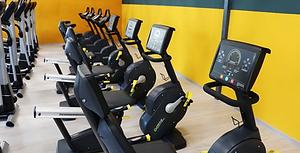 Recumbent Bike in Gym