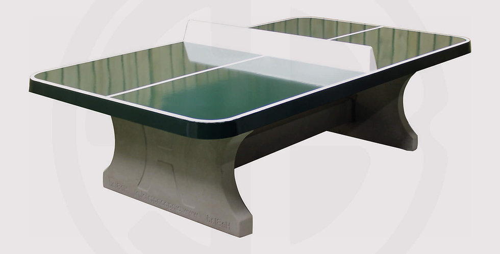 Outdoor concrete ping pong table with steel base