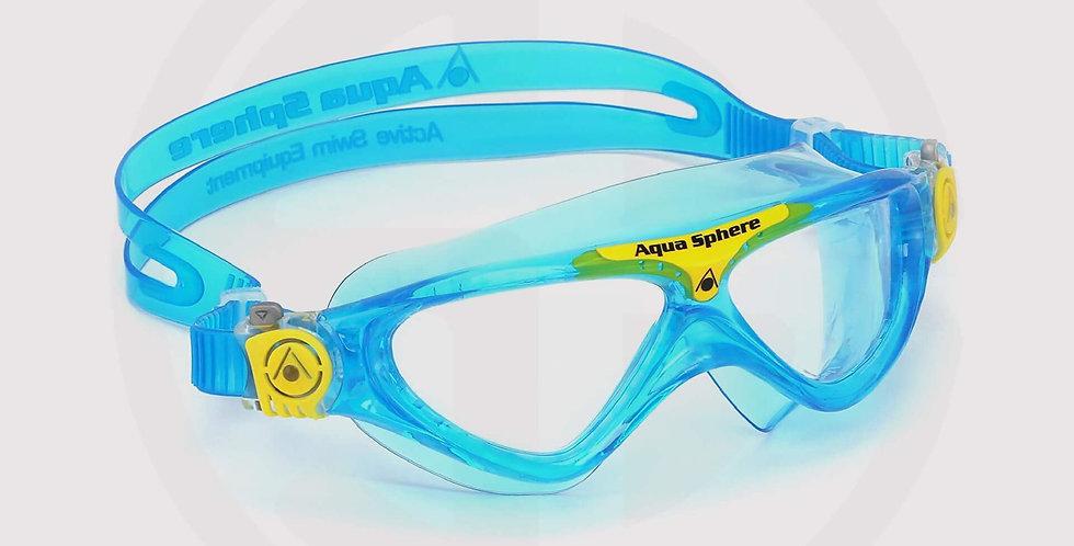 Aqua Sphere Vista JR Swimming Goggle, Clear Lens /Blue-Yellow
