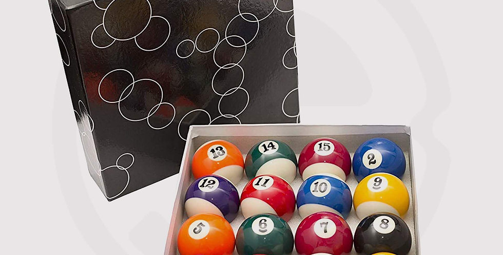 Standard american pool table, Billiard ball set