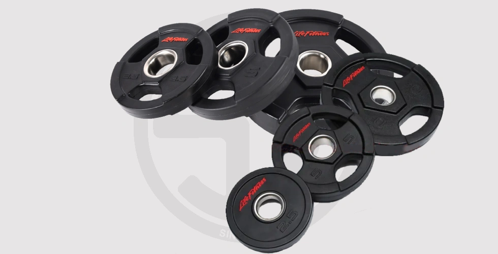 Rubber Olympic Weight Plate (Tri-Grips) - Sold by kilos For 110 EGP