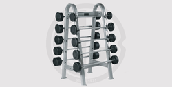 Barbell 10-50 kg Rubber Straight Barbell Set With Rack - 17,000 EGP