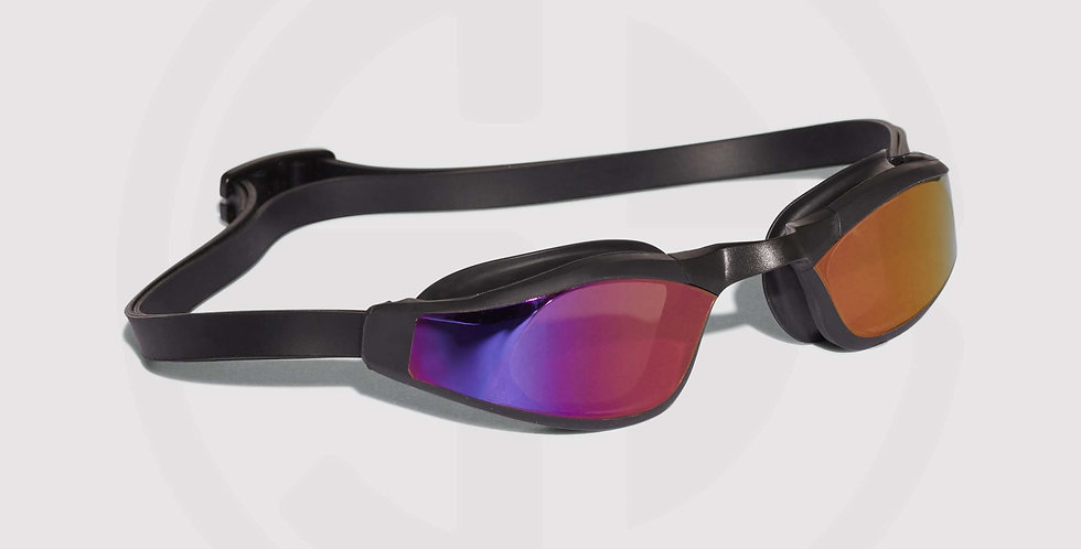 Adidas Persistar Race, mirrored swim goggles, for swimming races - black