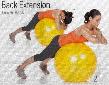 Back Extension Stability Ball Circuit Workout