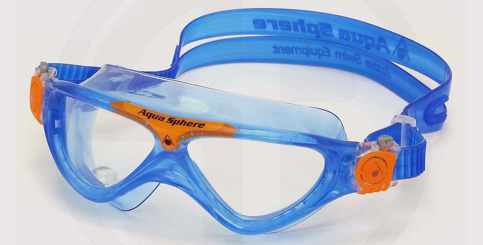 Aqua Sphere Vista JR Swimming Goggle, Clear Lens /Royal Blue-Orange