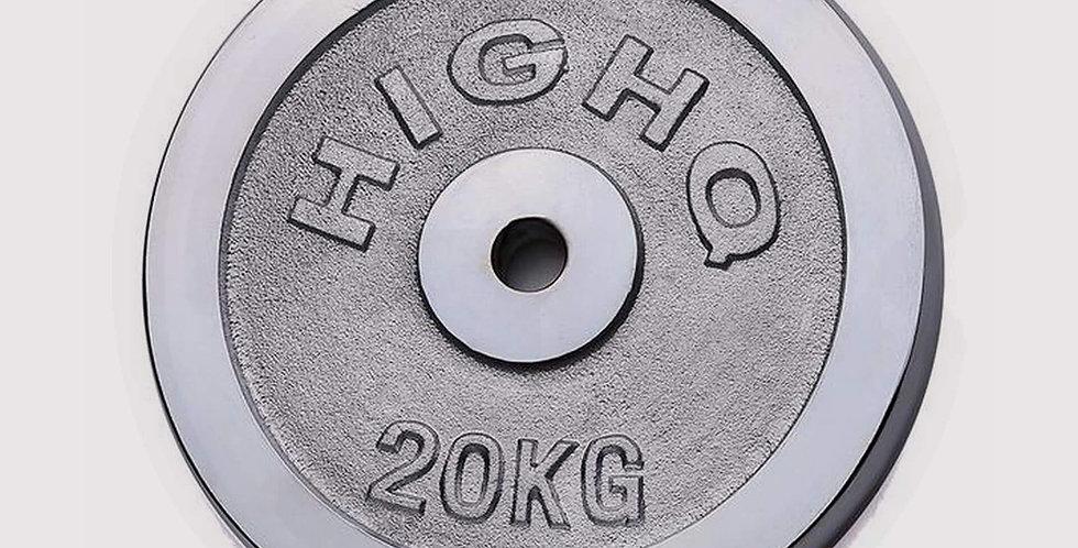 Standard Size, Cast Iron Weight Plates, 20 Kg