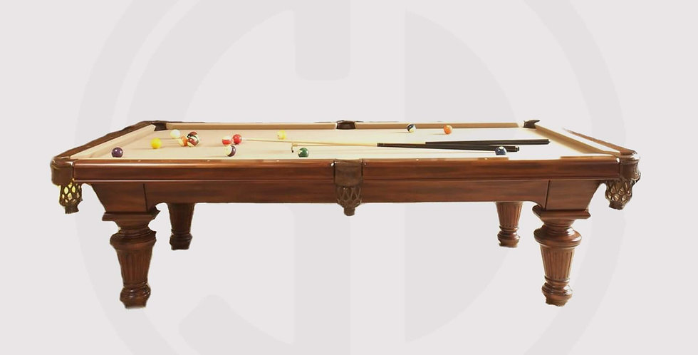Queen Pool Table 8ft made of walnut woods