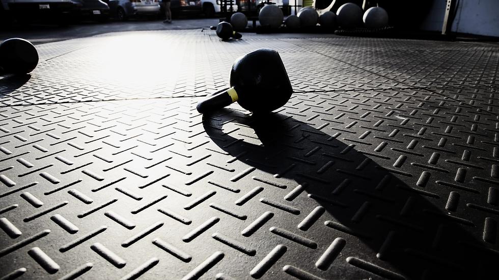 Sports Flooring on the iron floor
