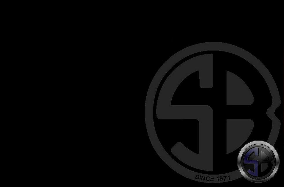 Blue Shell Logo, Black Background