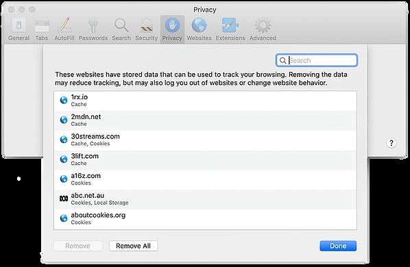 Delete Cookies from Safari Browser