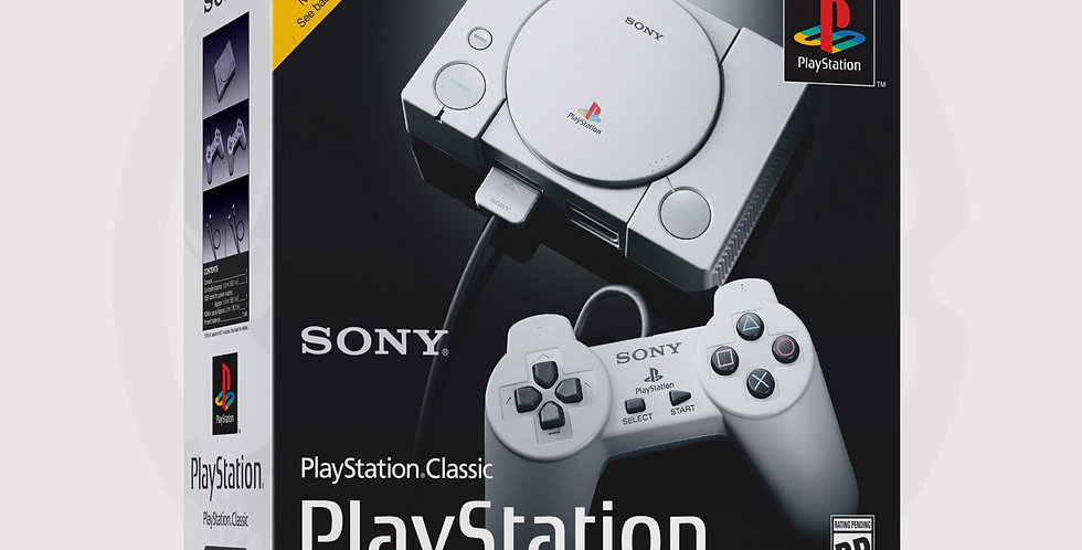 Box of Playstation classic system Sony