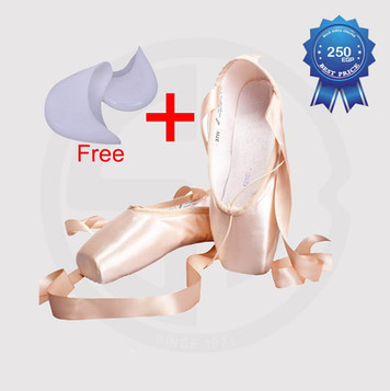 Pointe Shoes Satin Canvas with Ribbon