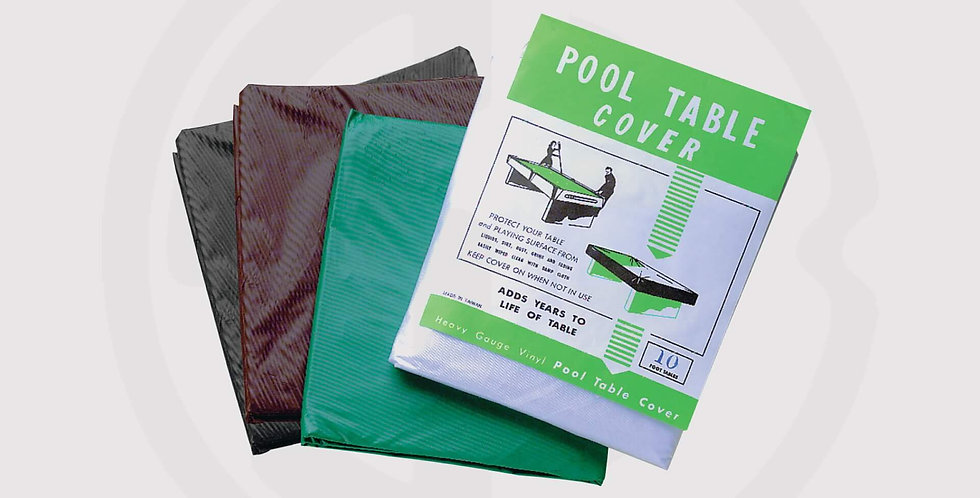 Pool table cover - TBC plastic table covers, Available in Brown, Clear or Green