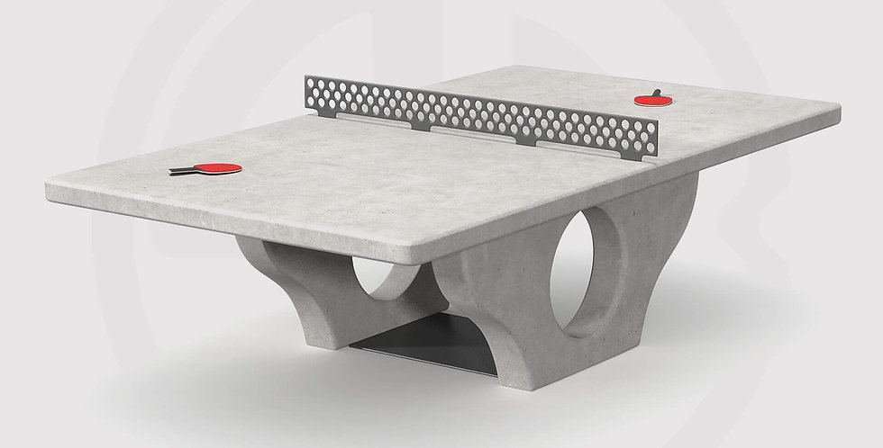 Concrete ping pong tables, outdoor tennis table