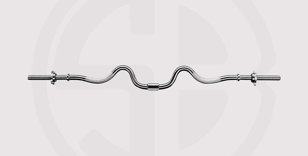 Standard Chrome Super Curl Bar - Marcy Apex 2-Piece