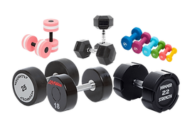 Rubber Fixed-Weight Dumbbells For Sale