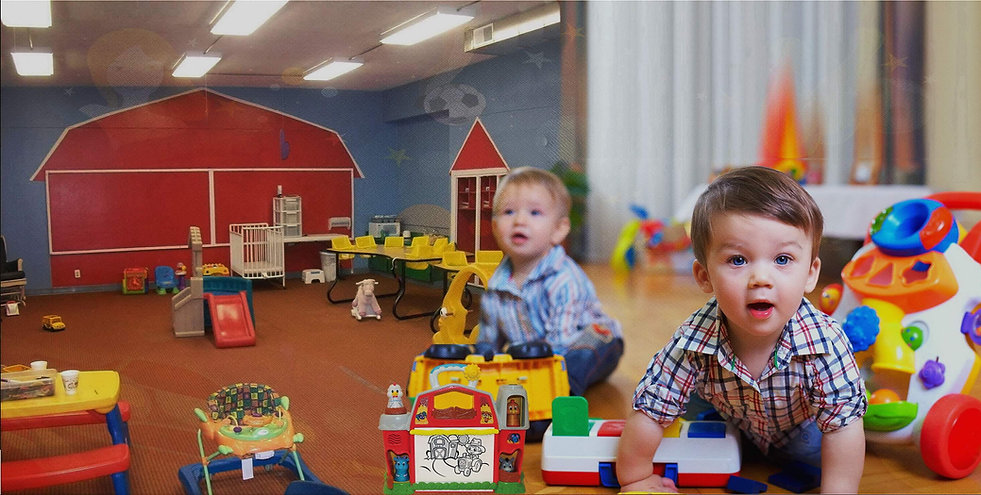 Kids playing With Toys In Nursery
