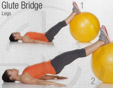 Glute Bridge Stability Ball Circuit Workout