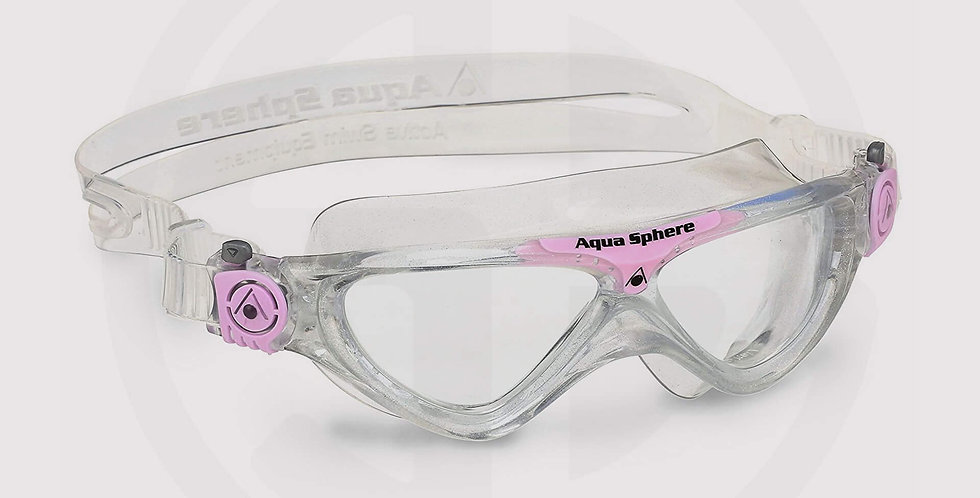 Aqua Sphere Vista JR Swimming Goggle, Clear Lens - Glitter Light/Pink