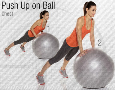 Push-Up Stability Ball Circuit Workout