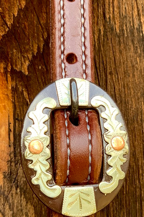 2 Buckle Double Stitched Slip Ear Headstall