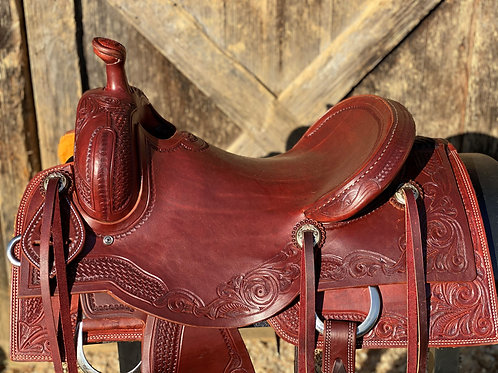 """New 15"""" Don Rich Cowhorse Saddle"""