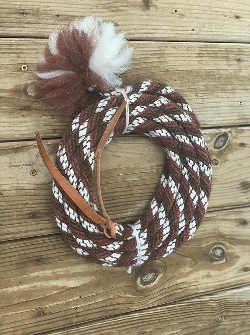 "5/8"" chestnut, white, and rust Alpaca mohair"