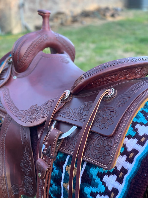 """New 16"""" Don Rich Ranch Cutter Saddle"""