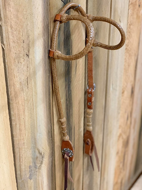 Double Ear Rawhide and Leather Headstall