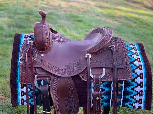 """New 15.5"""" Don Rich Cowhorse Saddle"""