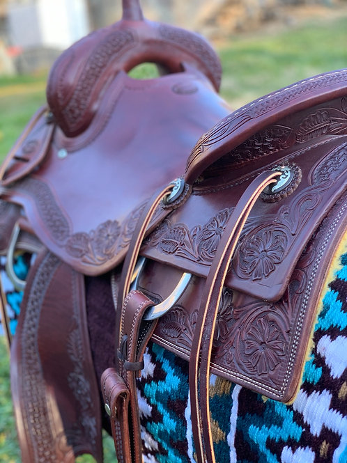 """New 16 1/4"""" Don Rich Ranch Cutter Saddle"""