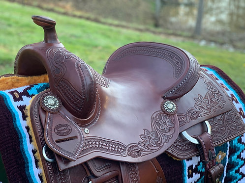 """New 15 3/4"""" Don Rich Reiner Saddle w/ updated conchos"""