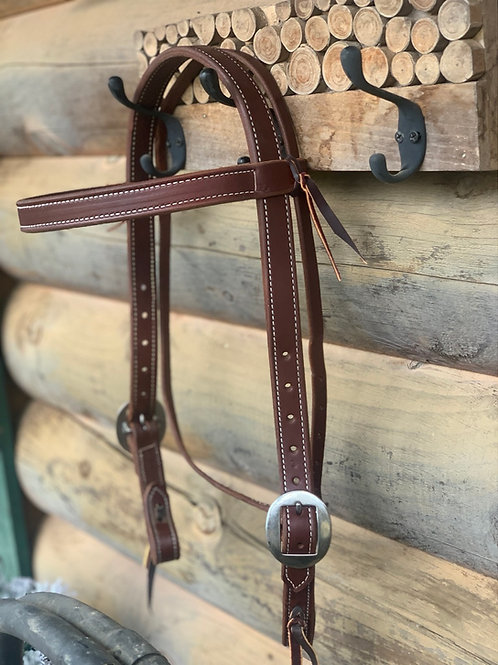 """1"""" Double stitched Browband"""
