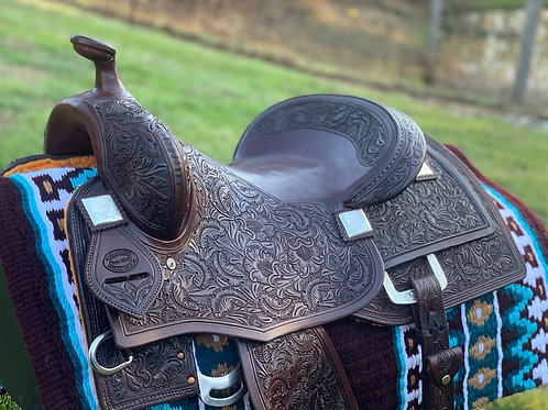 "New 15 1/4"" Don Rich Reiner Saddle w/ updated conchos & dee ring"