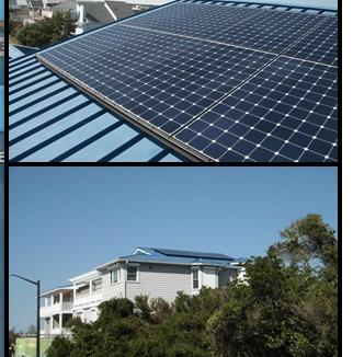 Solar panel install on metal roof