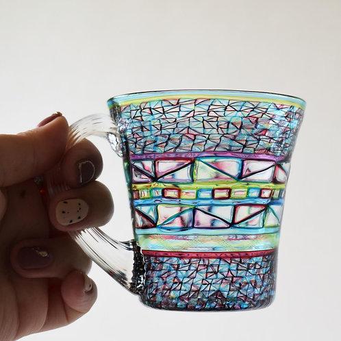 ガラス工房メルハバ:プリズムマグカップ