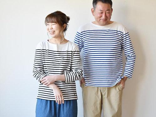 Season off:パネルボーダーTシャツ