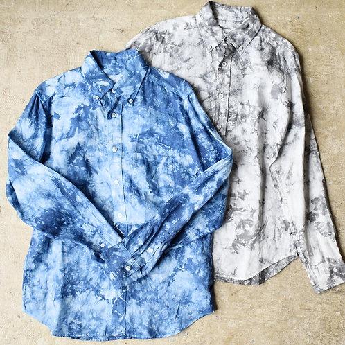 Season off:籠染めフレンチリネンシャツ