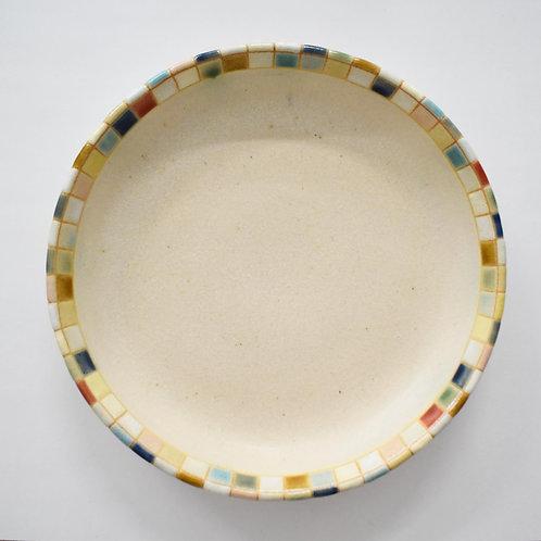 撫菜花工藝:モザイクタイル平鉢