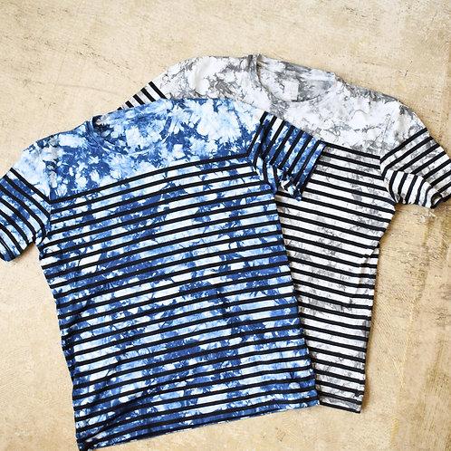 Season off:籠染めボーダーTシャツ