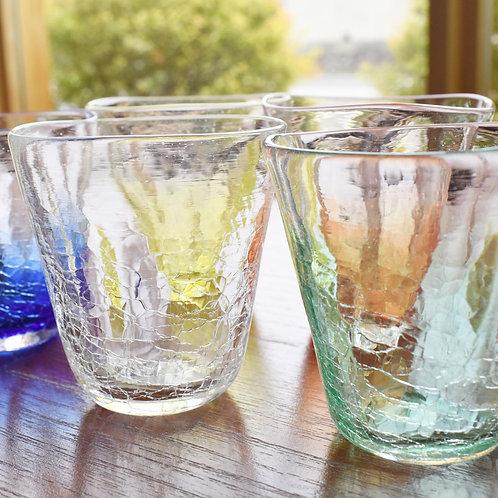 ガラス工房メルハバ:三角クラックグラス