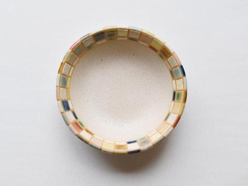 撫菜花工藝:モザイクタイル4寸小鉢
