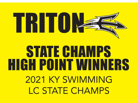 5 TRITON HIGH POINT WINNERS AT STATE!