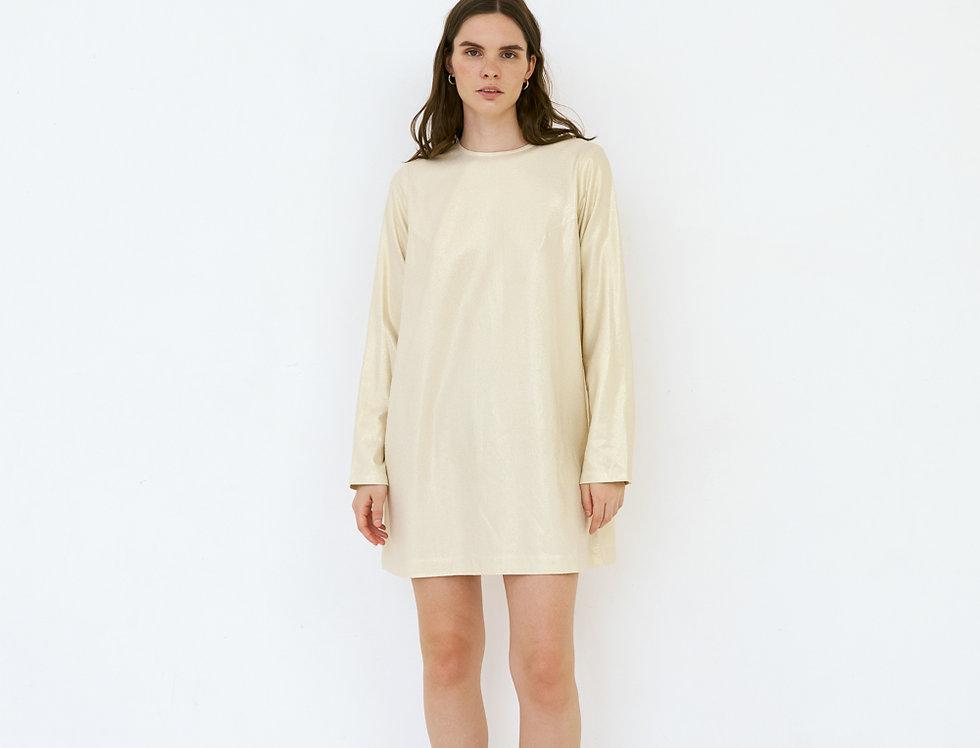 Золотое шёлковое платье