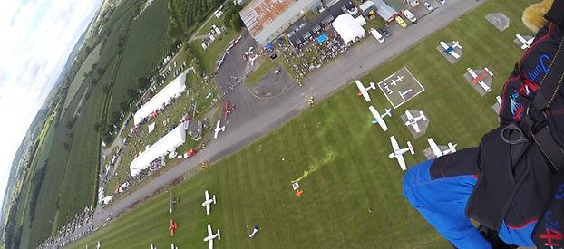 Parachutist Landing at Shobdon Airfield, Leomister, Herefordshire,HR6 9NR