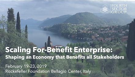 Scaling For-Benefit Enterprise: